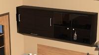 interior suspended kitchen cabinet 3d max