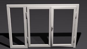 3d model of interior design window