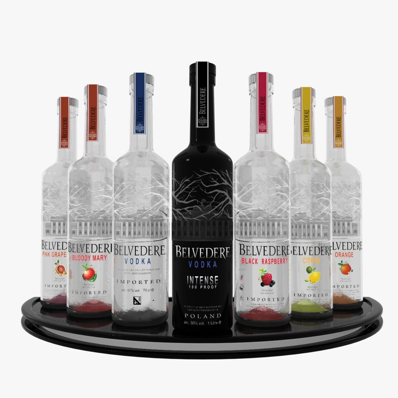 3d belvedere vodka set
