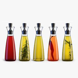 3d glass drip-free oil vinegar