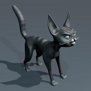 cat cartoon 3d model