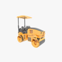3d model of road roller compactor vehicle