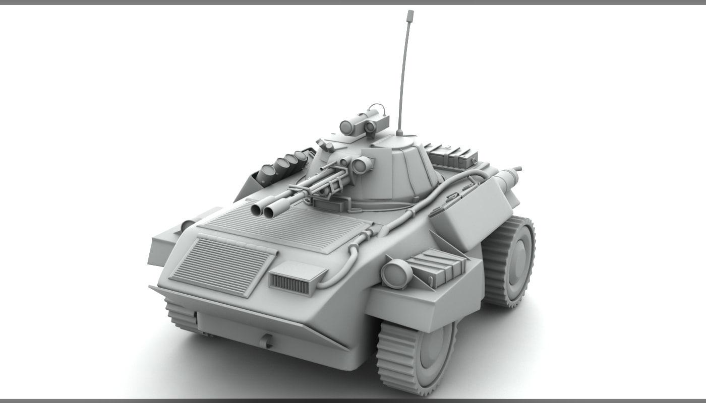 3d model light armored vehicle