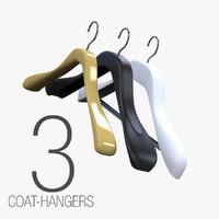 3dsmax 3 coat-hangers
