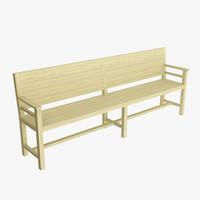 3d bench wooden