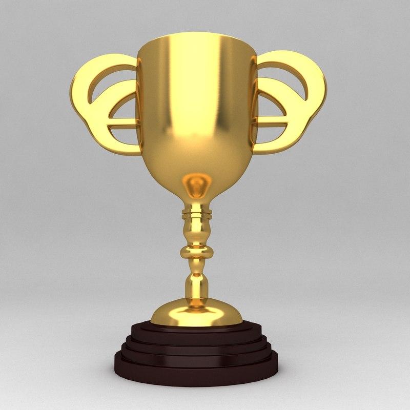 3d model of awards trophies