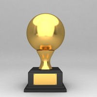 awards trophies 3d model