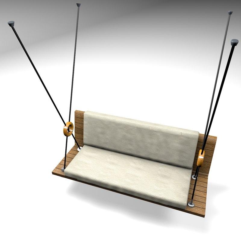 chair hanging 3d c4d