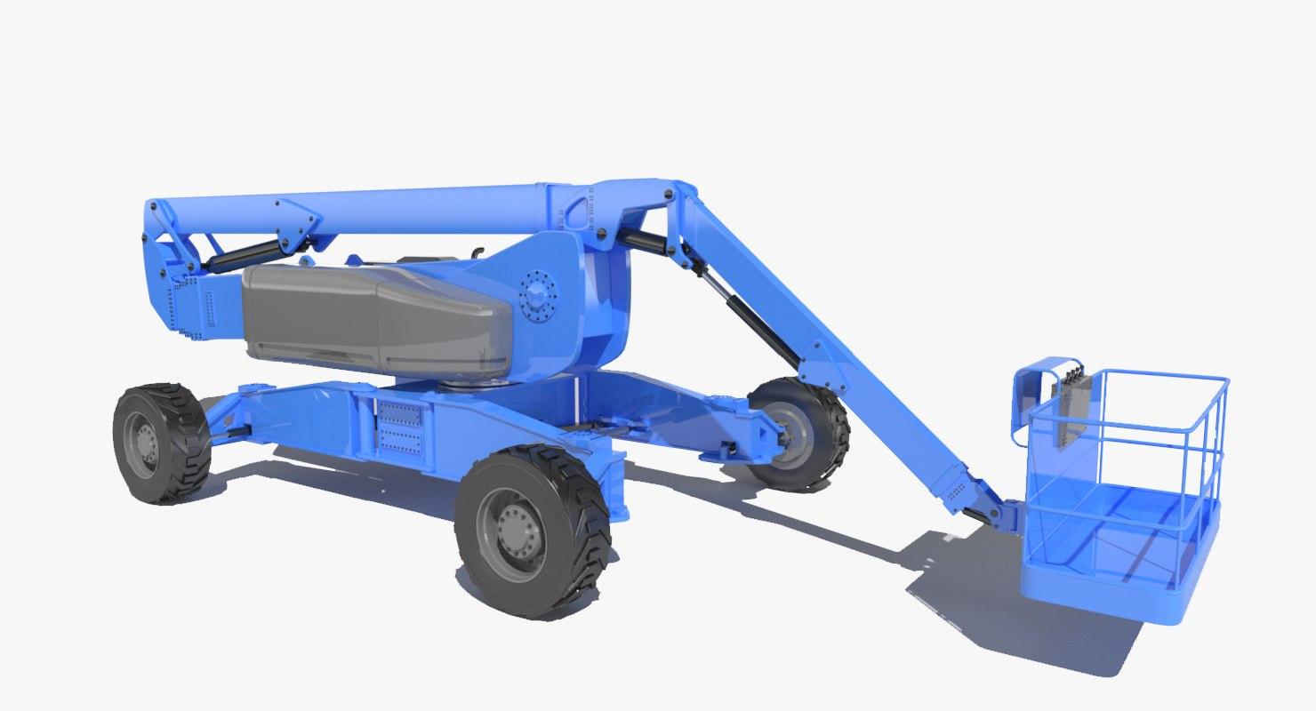 Self Propelled Cart >> 3d model aerial work platform genie