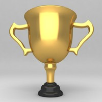 3d model of awards trophies