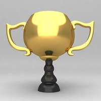 awards trophies 3d obj
