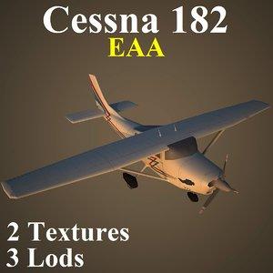 3d cessna 182 eaa model