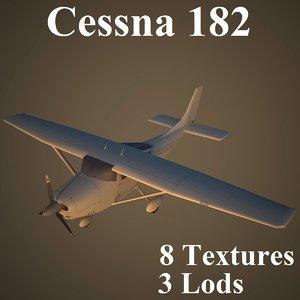 cessna 182 3d model