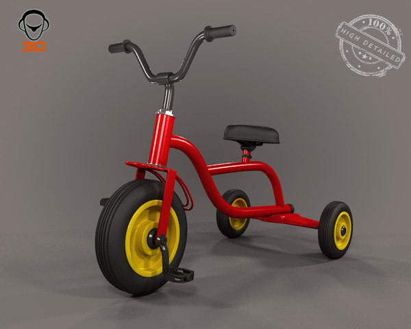 baby cycle 3d model