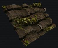 wood tile moss