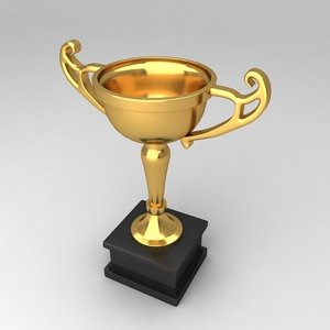 3d model awards trophies