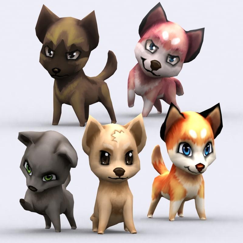 3ds chibii - dog animals