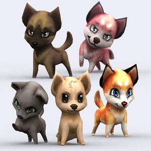 3ds chibii - dog animals