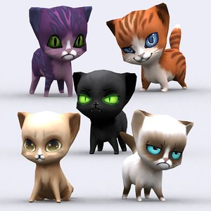 3d chibii - cat