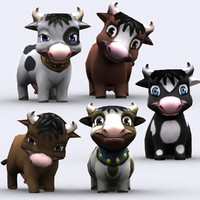 3DRT - Chibii Animals - Cow