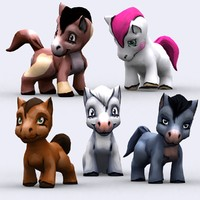 3ds max chibii - pony animals