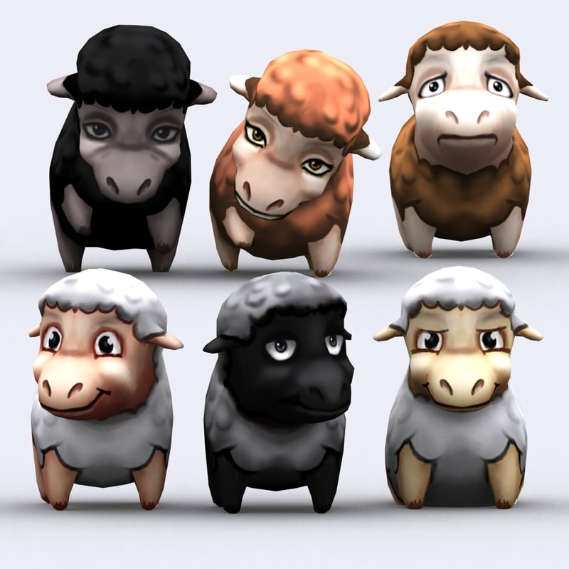 chibii - sheep animals 3ds
