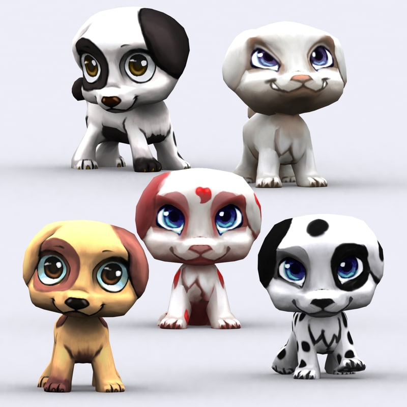 chibii - puppy animals 3d 3ds
