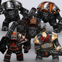 3d model games warbots punishers characters