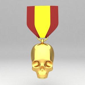 medal awards 3d model