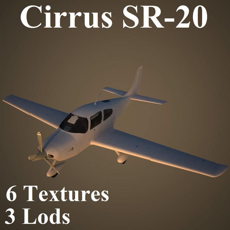 3d cirrus low-poly model