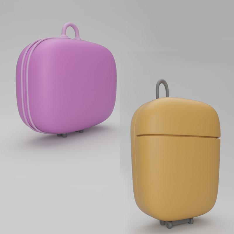 suitcase case 3d c4d