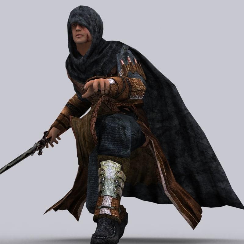 fantasy character 0 assassination 3d model