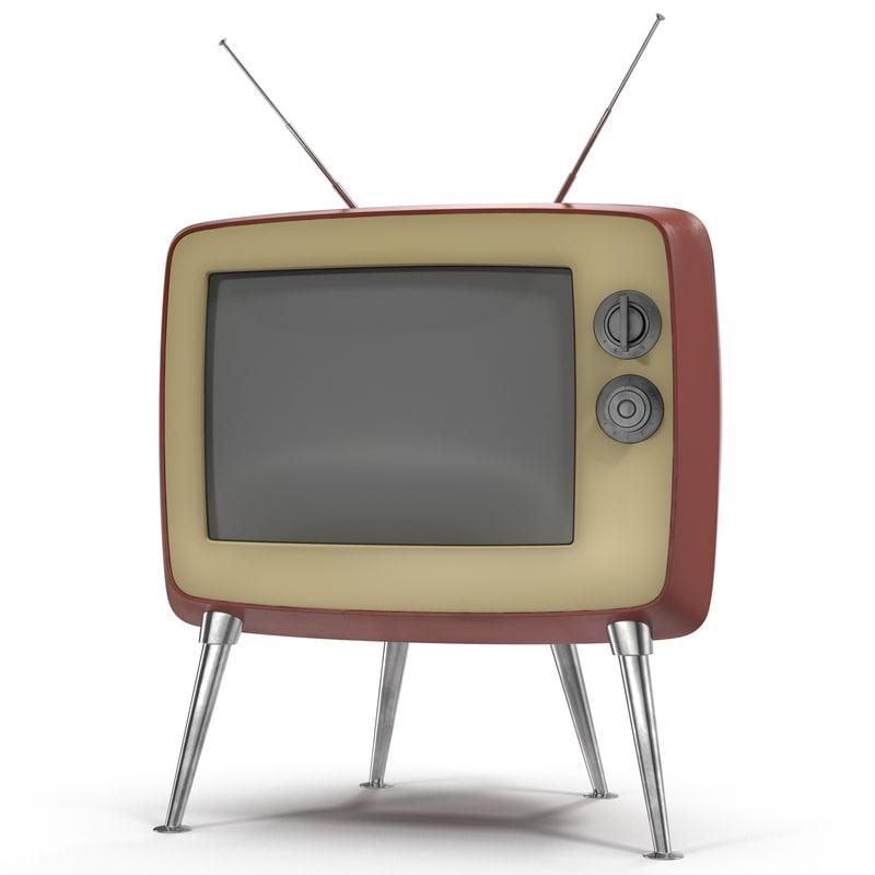 retro tv 3 3d c4d