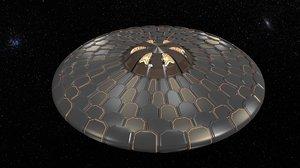 ufo modelling armor 3d model
