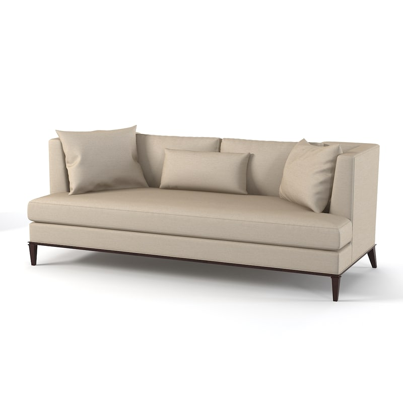 baker presidio sofa 3d model