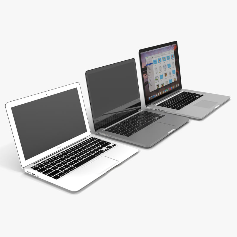 3d model macbook modeled