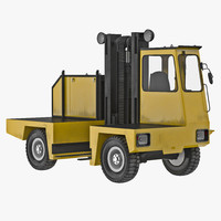 3ds loading forklift truck yellow