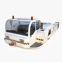 3ds max airport pushback tractor