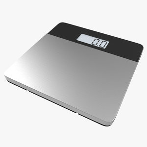 3d model bathroom scale 2 generic