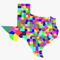 3d texas counties