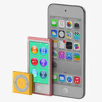 ipod modeled 3d model