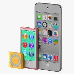 ipod modeled 3d model