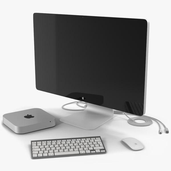 mac mini modeled apple keyboard max