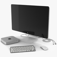 mac mini modeled apple keyboard max