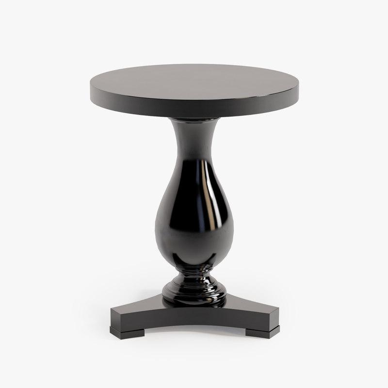 3d ralph fifth pedestal end table model