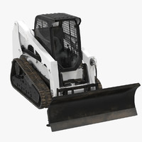 compact tracked loader blade 3d model