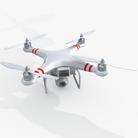quad copter phantom 3d obj