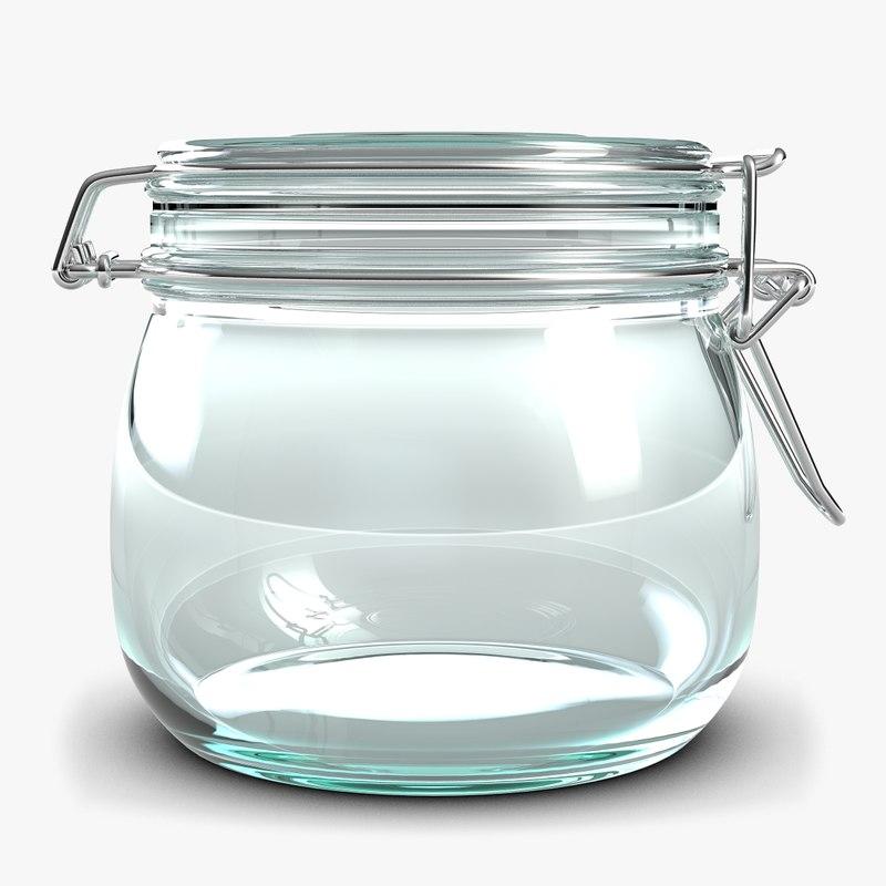 small glass jar 3d max