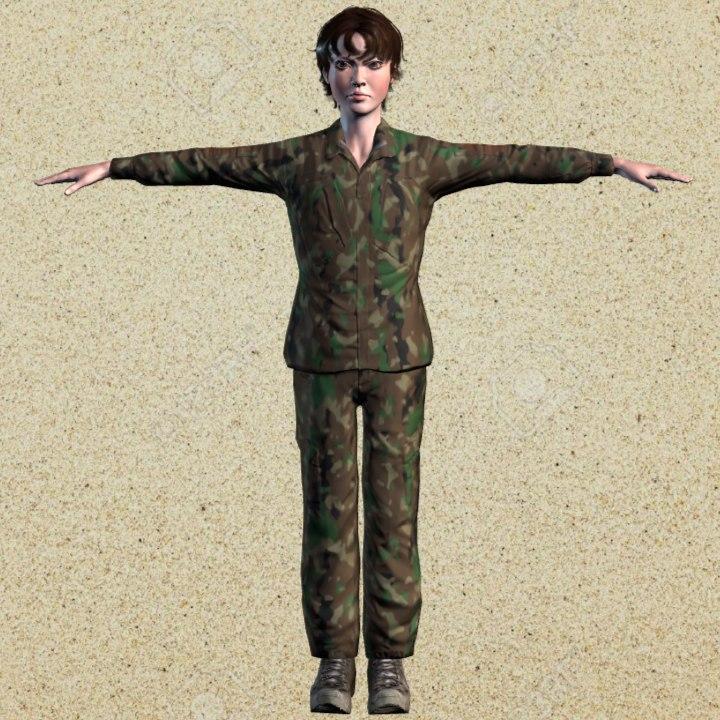 fbx woman army