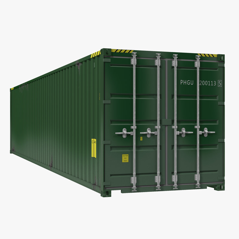 40 ft iso container 3d model